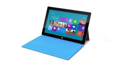 Tablet Microsoft Surface, apenas uma cor, mas vários modelos de Type Cover